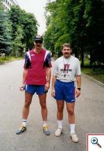 С. К. Шляпников и А. Б. Савин на тренировочной базе юношеской сборной России